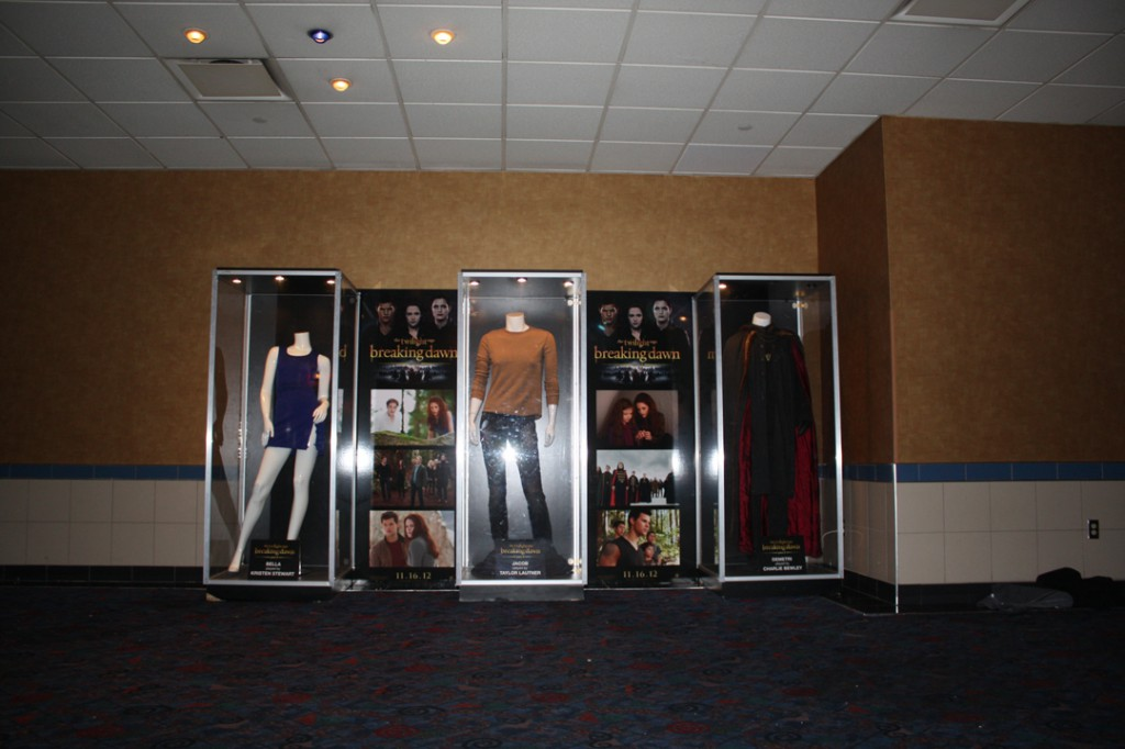 At the Regal E-Walk in New York City, featuring costumes worn by Kristin Stewart, Taylor Lautner & Charlie Bewhey