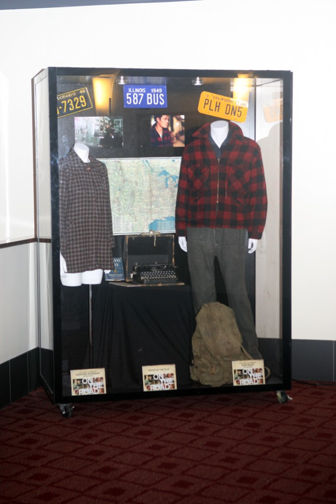 ON THE ROAD at the ArcLight Hollywood, featuring props and costumes worn by Kristen Stewart & Sam Riley