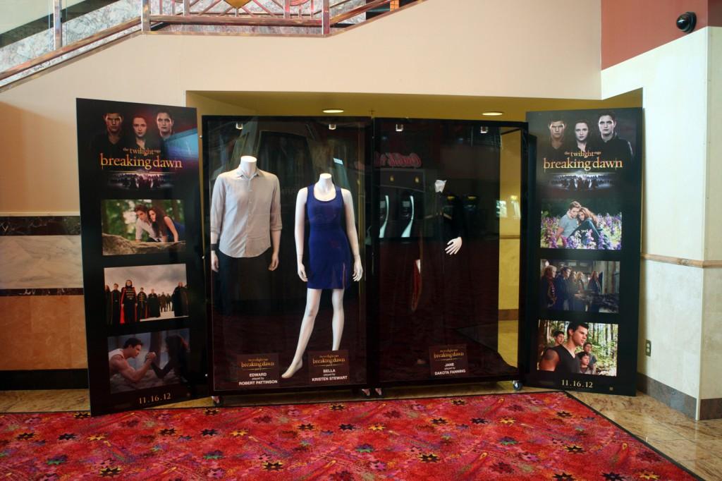 At the Regal Irvine Spectrum in Southern California, featuring costumes worn by Robert Pattinson, Kristin Stewart & Dakota Fanning