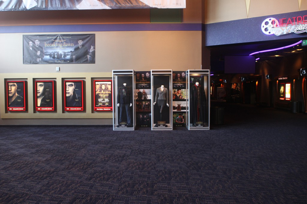 At the Tempe Marketplace in Arizona, featuring costumes worn by Robert Pattinson, Kristin Stewart & Cameron Bright.