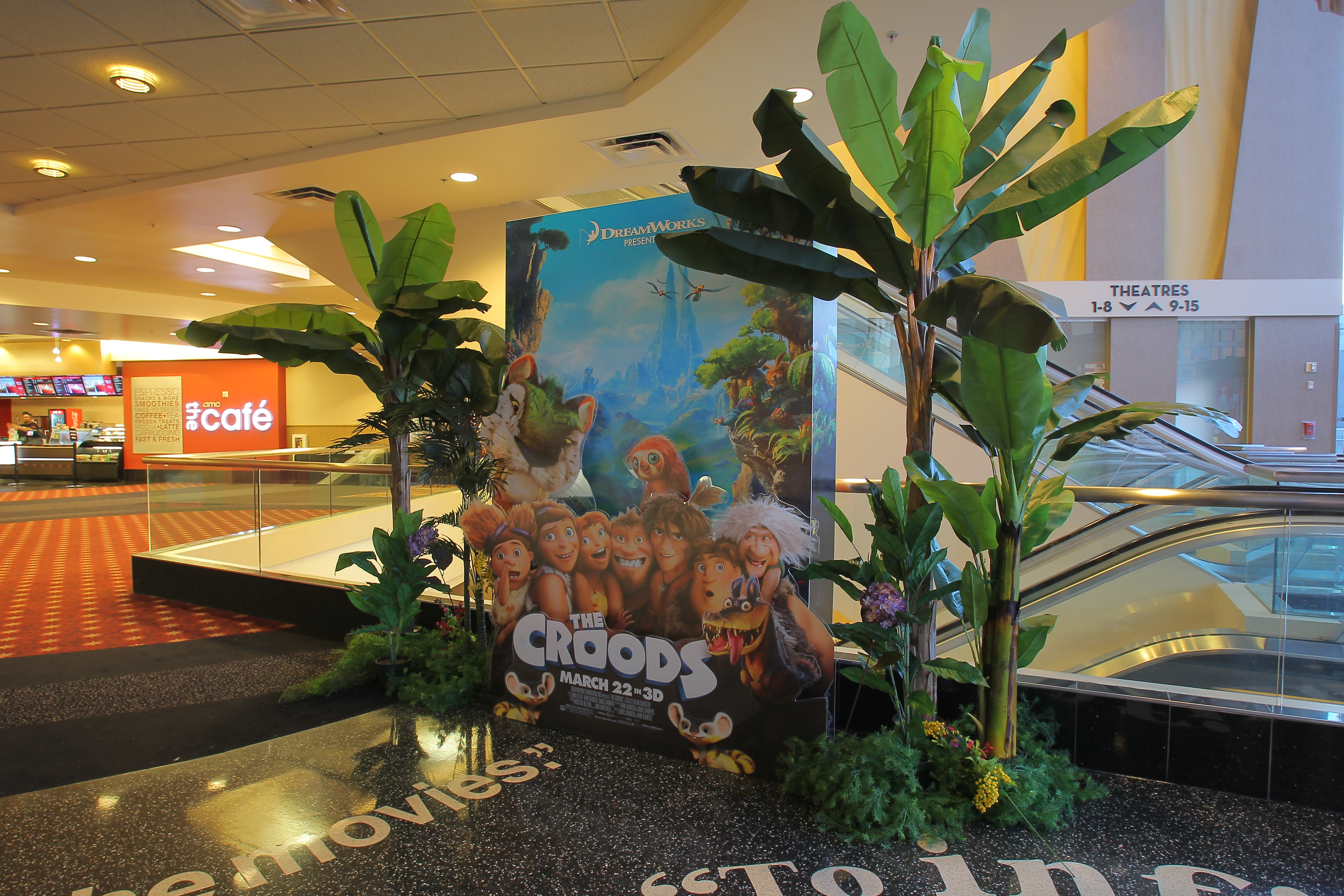 THE CROODS special 4 layer display at th AMC Century City 15.