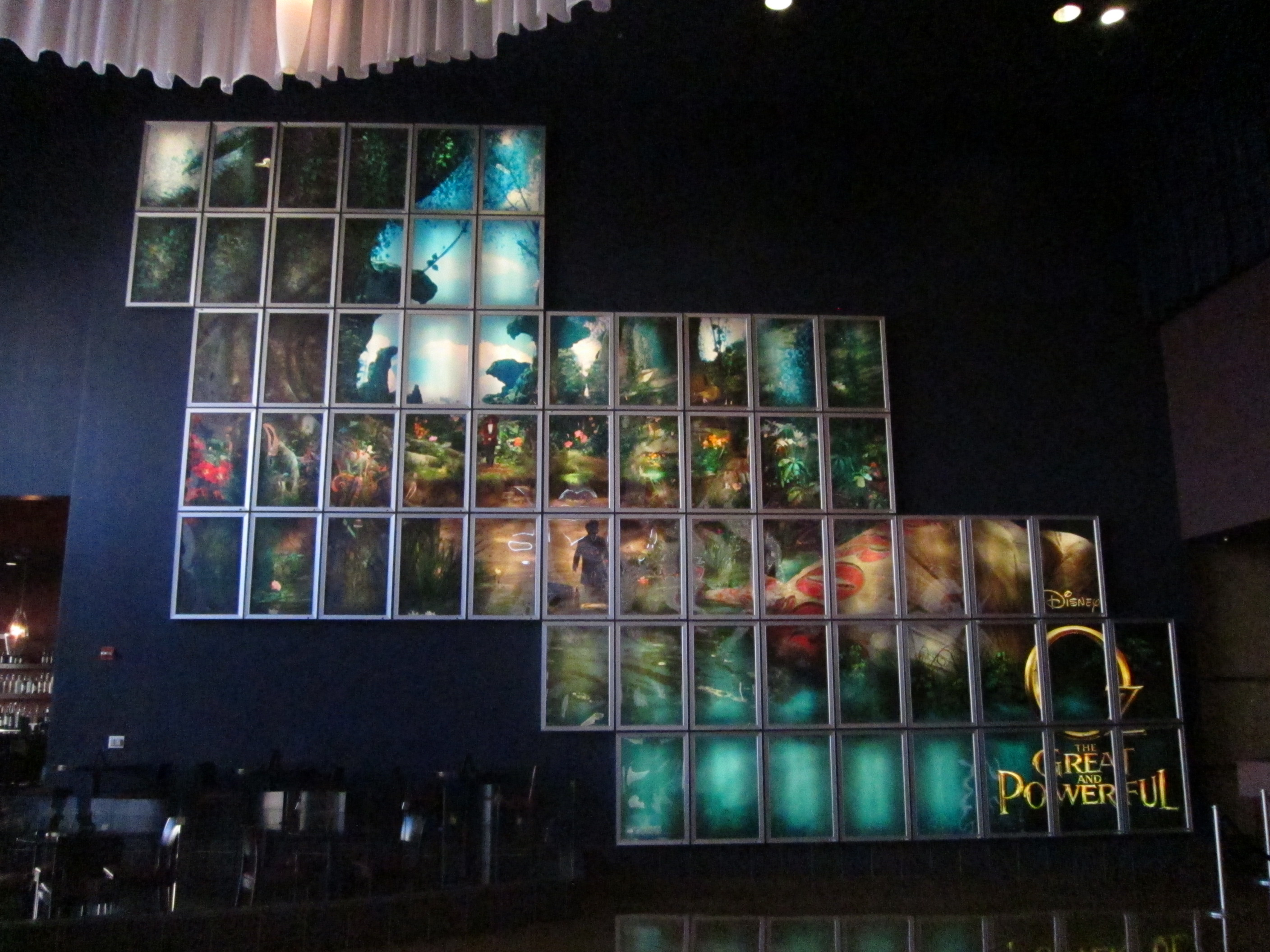 Backlit wall for Disney's OZ THE GREAT AND POWERFUL at the ArcLight Pasadena.