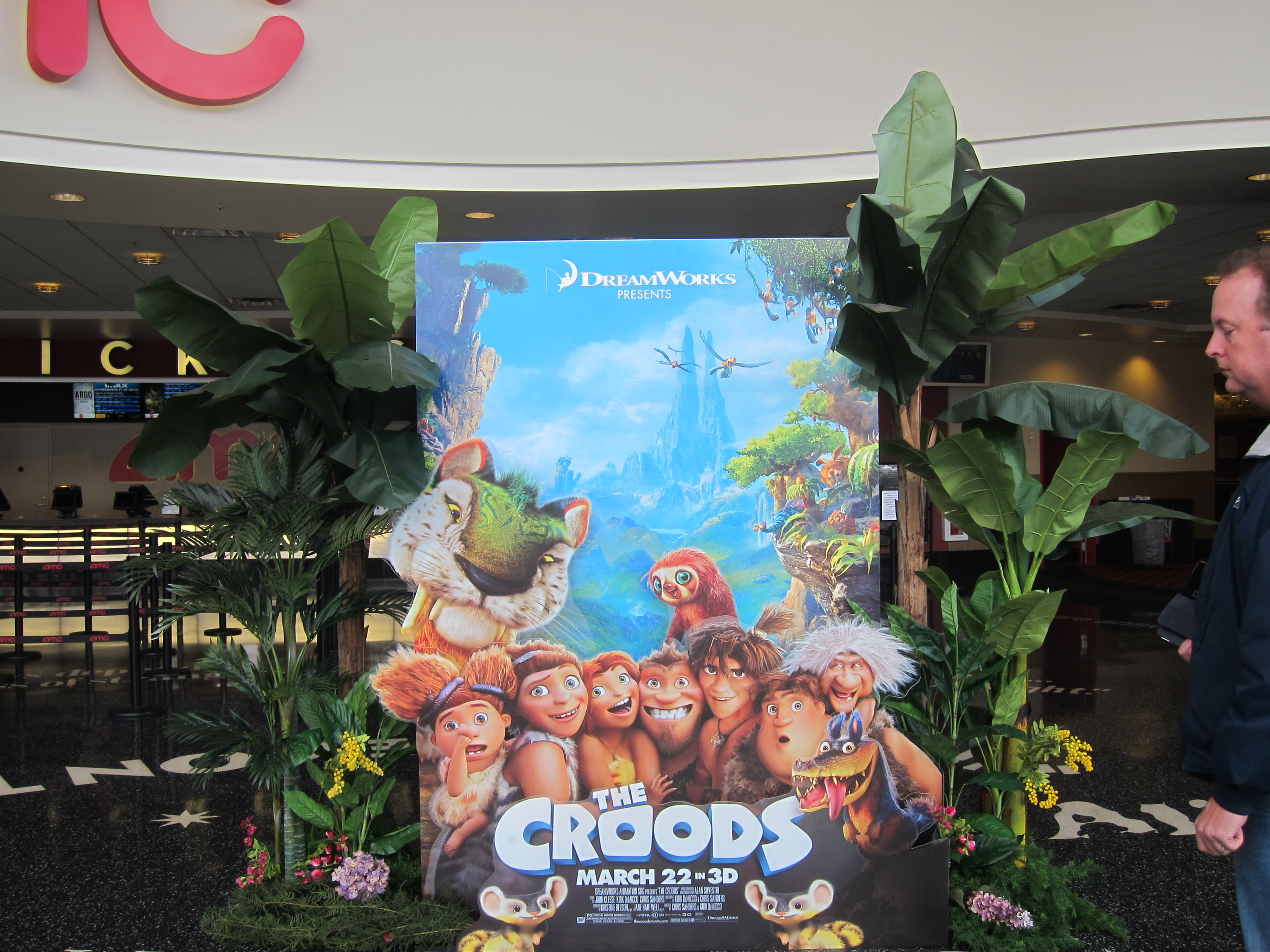 THE CROODS special 4 layer display at the AMC Century 15.
