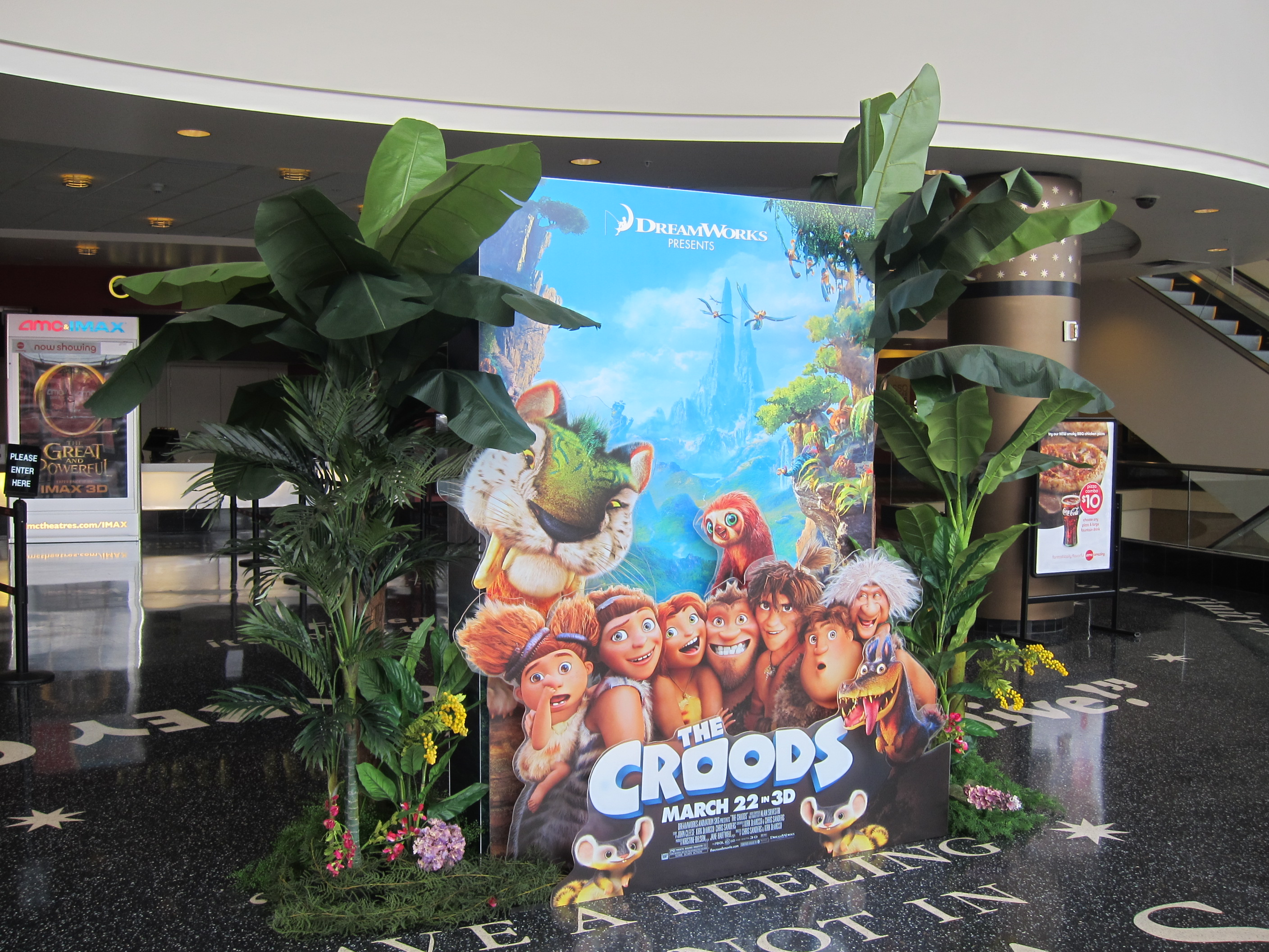 THE CROODS special layered display at the AMC Century City 15.