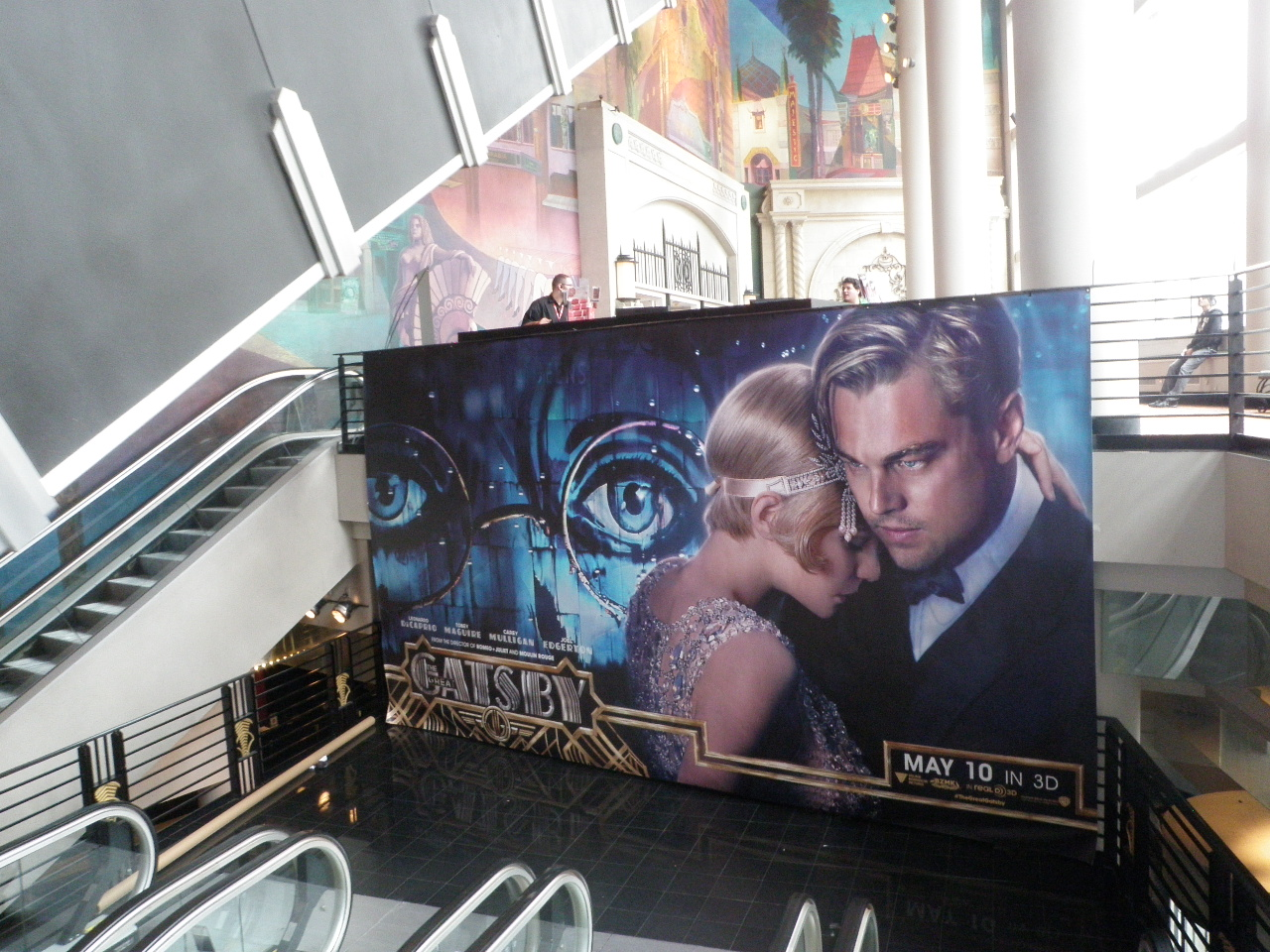 The giant banner for THE GREAT GATSBY at the AMC Loews Lincoln Square in New York City.