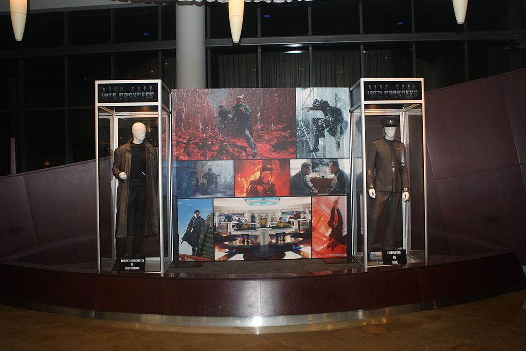 STAR TREK costume exhibit at the ArcLight Sherman Oaks Cinemas.