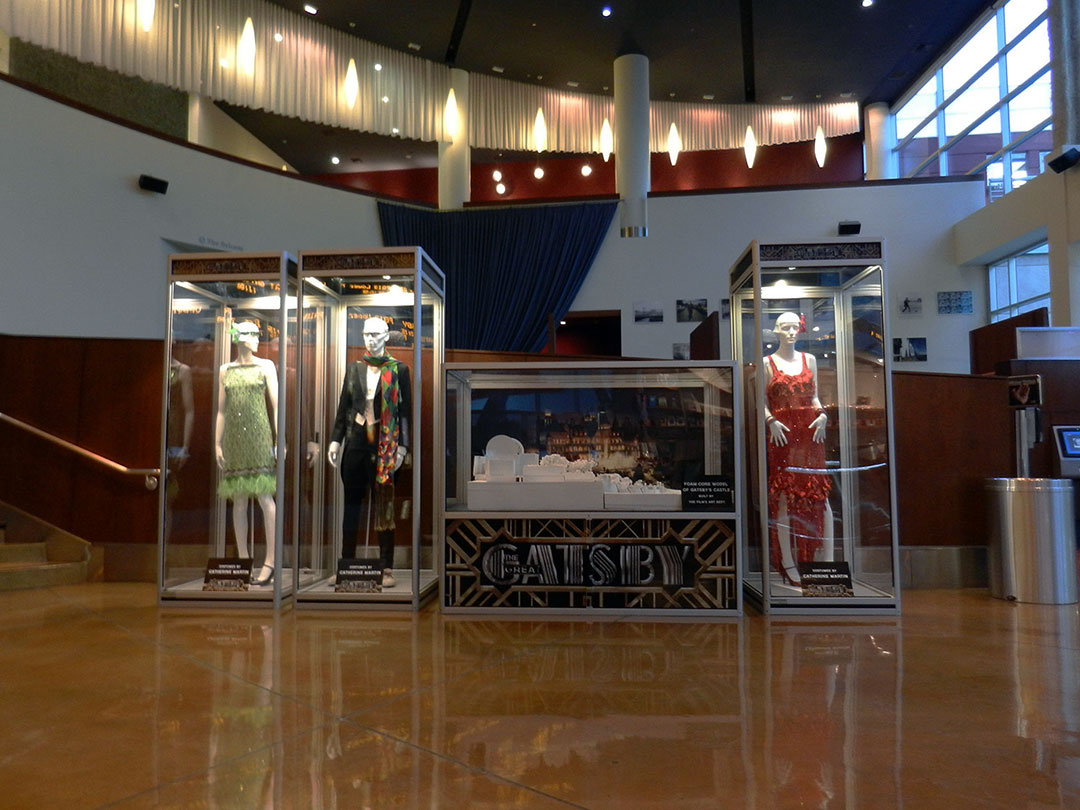 THE GREAT GATSBY costume & model of Gatsby's Castle at the ArcLight Hollywood.
