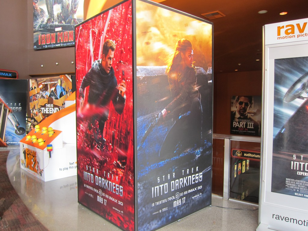 Paramount's STAR TREK INTO DARKNESS  backlit cube.