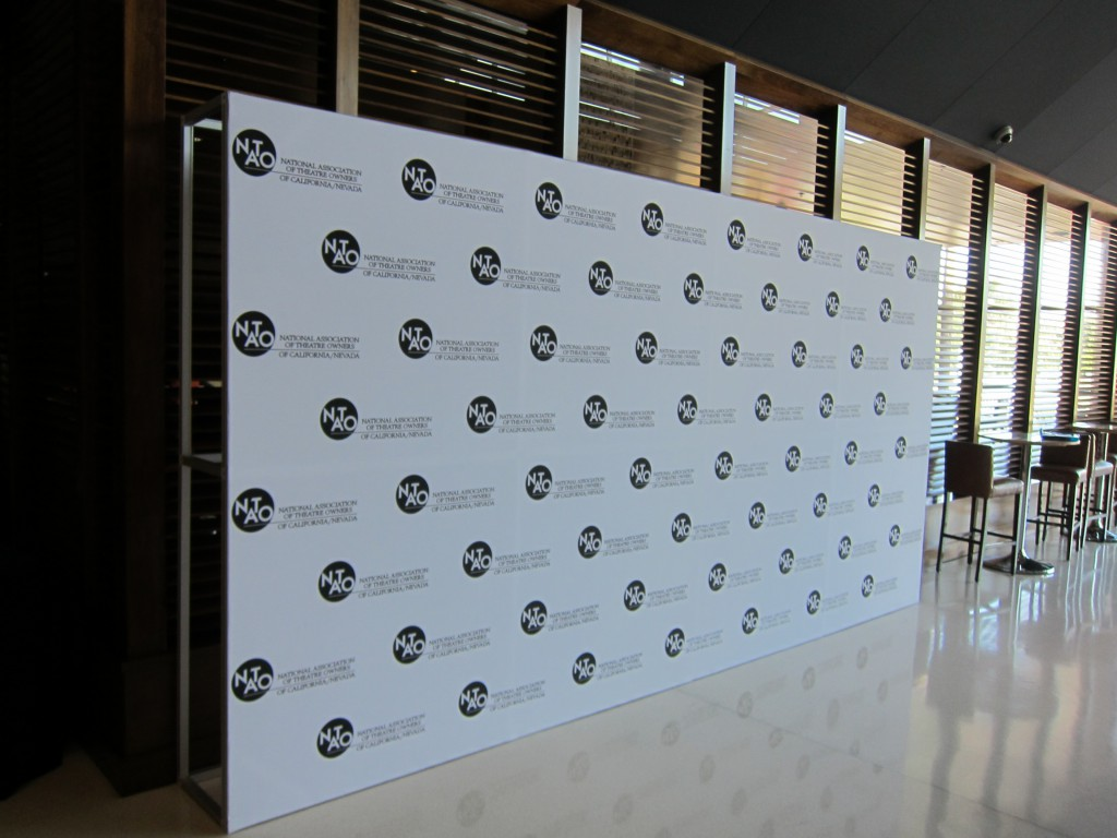 NATO step & repeat wall for photo ops.