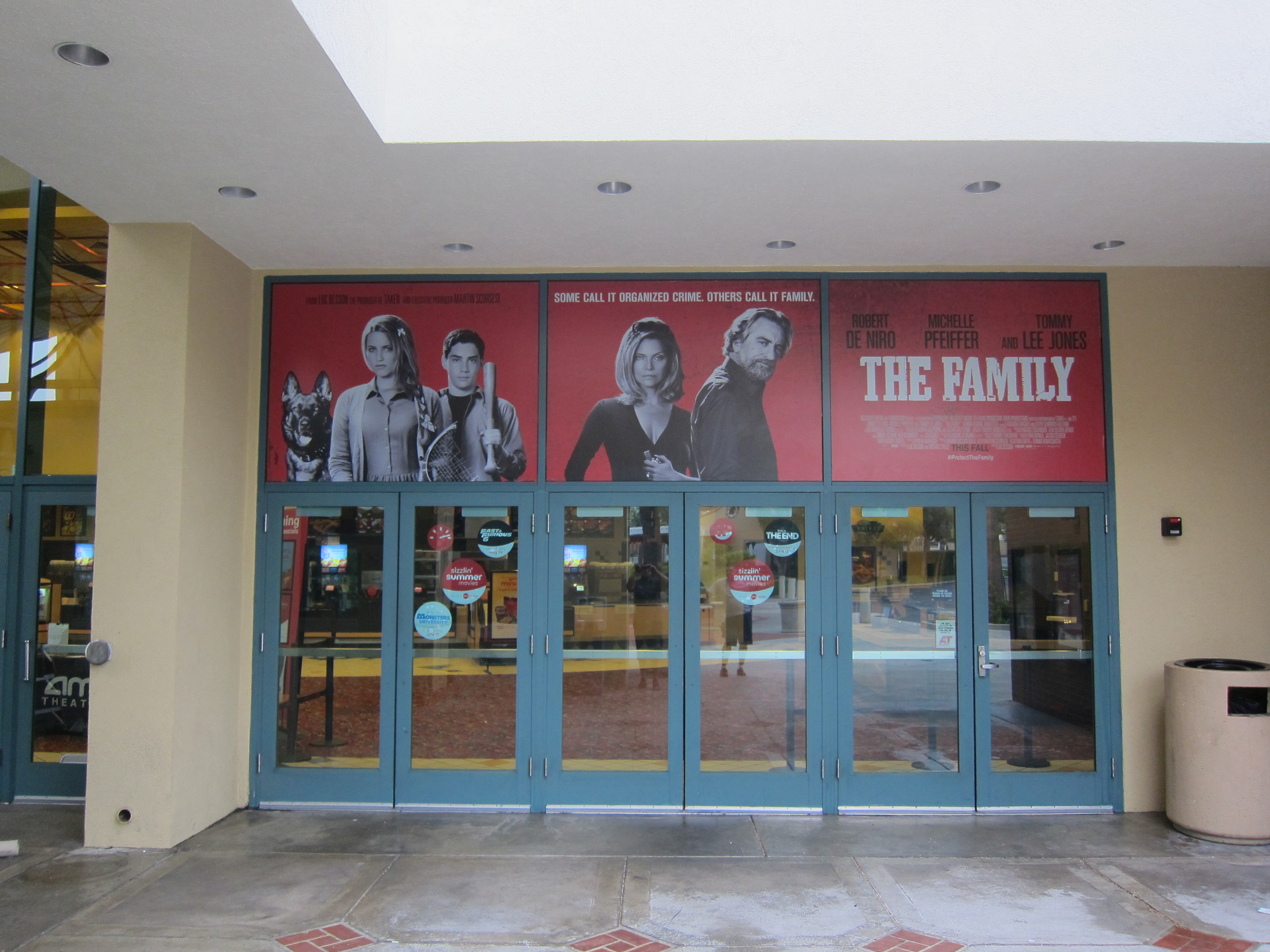 THE FAMILY at the AMC Rolling Hills Theatre in Southern California.
