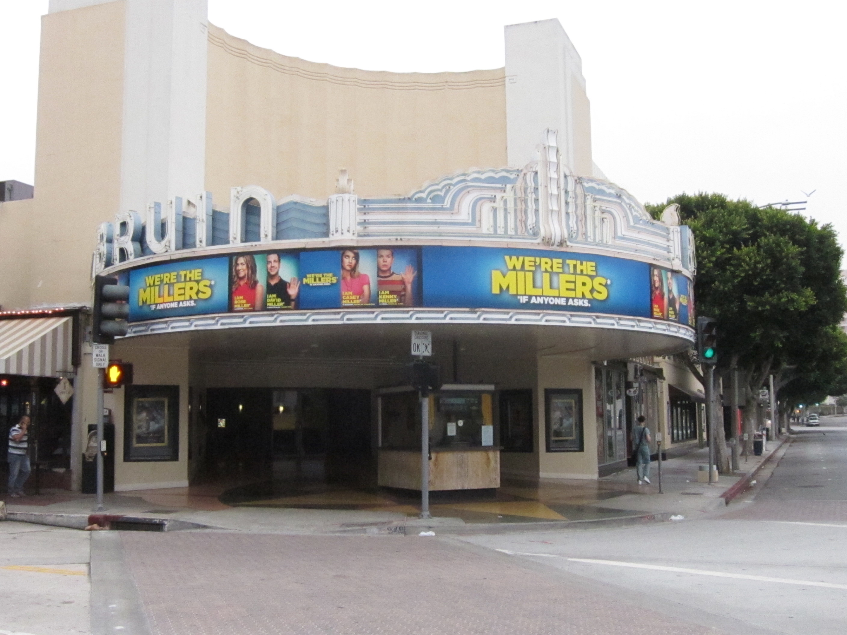 Custom marquee for WE'RE THE MILLERS at the Regency Bruin Theatre in Westwood.