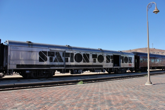 The platform in Barstow.(Photo: Carolina Miranda)