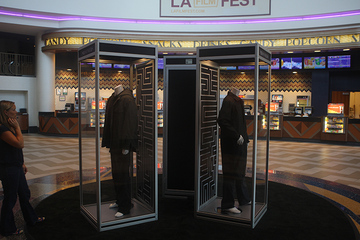 PRISONERS display at the Regal A Live showing the costumes part of the exhibit.