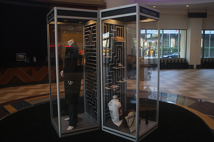PRISONERS props display in right case  at the Regal LA Live.