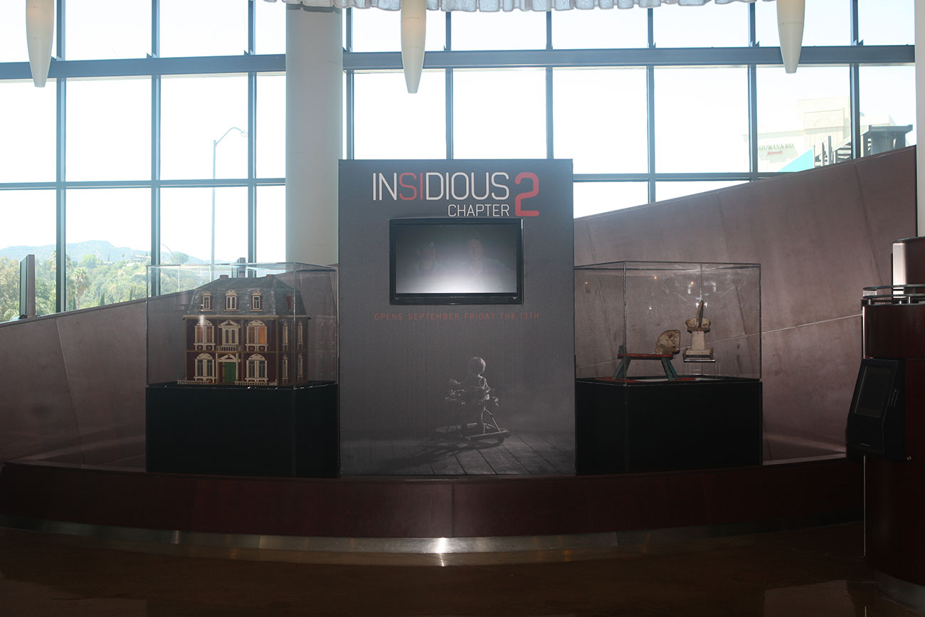Film District's INSIDIUS: CHAPTER 2 prop exhibit takes center stage at the ArcLight Sherman Oaks.