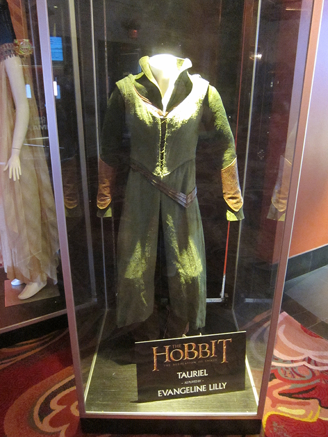 A costume worn by Evangeline Lilly in THE HOBBIT: THE DESOLUTION OF SMAUG.