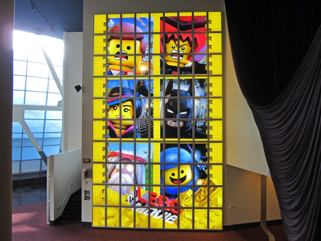 Entertainment Lego at Arclight Hollywood Backlit Graphics