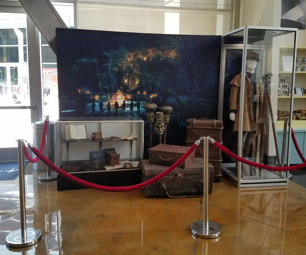 olson visual installed a costume and prop display for lost city of z