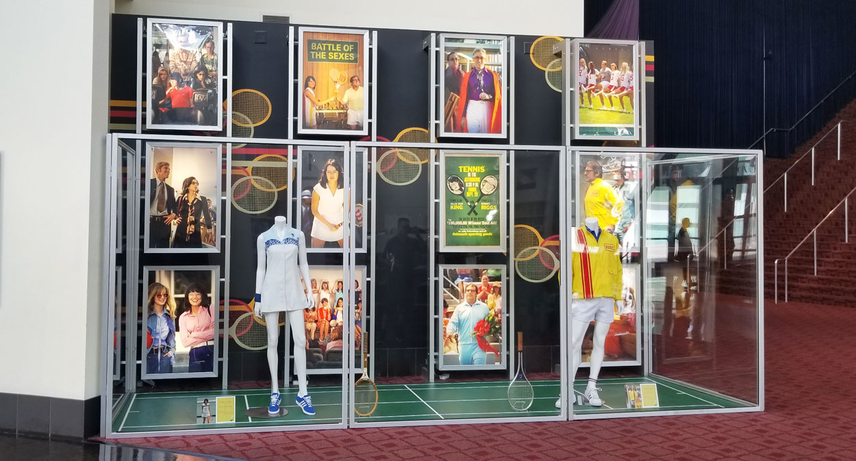 olson visual installs prop and displays for battle of the sexes film